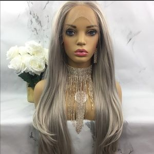 Accessories - Silver/blonde lace front wig